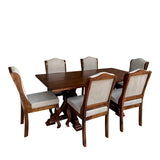 Eden Solid Wood Six Seater Dining Set
