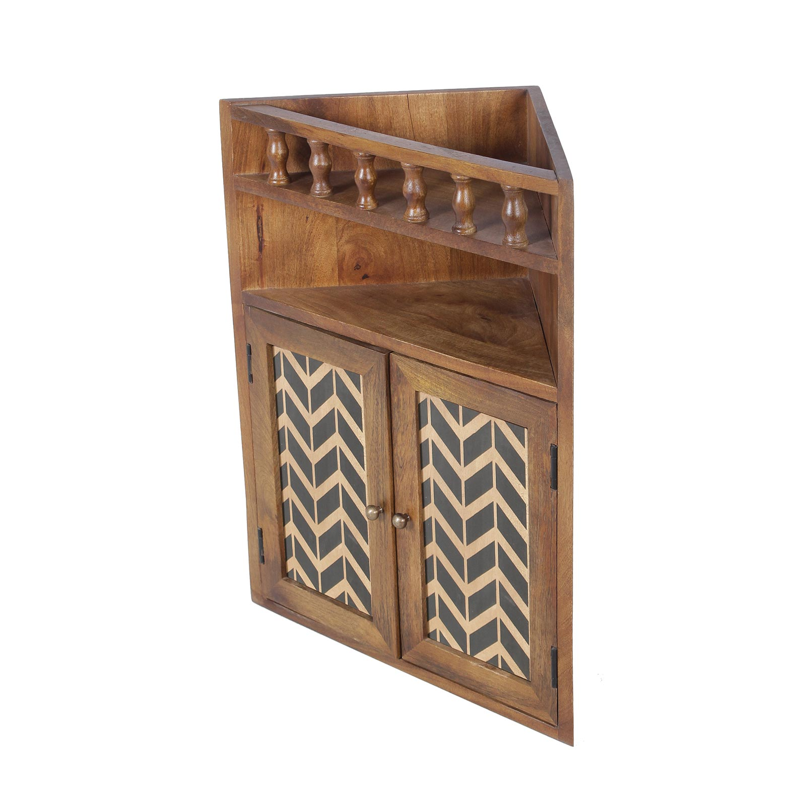 Vanora Solid Wood Bathroom Wall Shelf