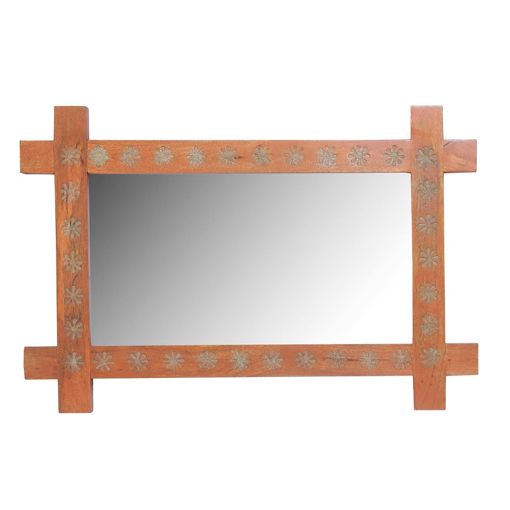 Ana Solid Wood Hand Carved Wall Mirror