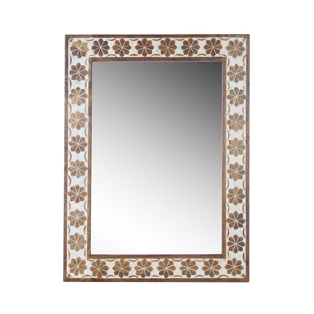 Zoe Solid Wood Hand Carved Mirror