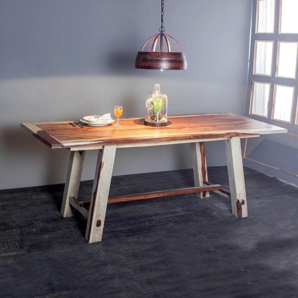 Paloma Solid Wood Six Seater Dining Table