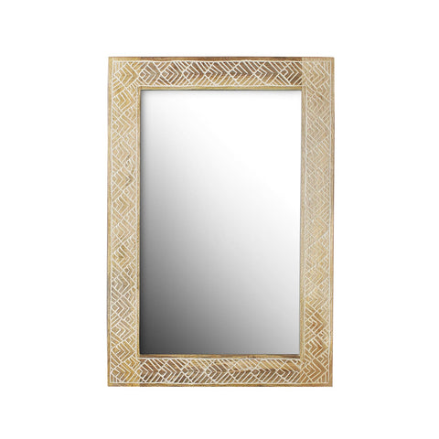 Ines Solid Wood Hand Carved Wall Mirror
