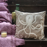 Octopus hand Embroidered Cushion Cover