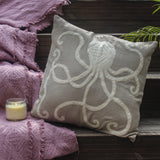 Octopus hand appliqued Cushion Cover