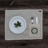 Hand Embroidered Table Mat with Cutlery Pocket set of 4