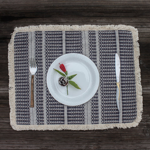 Patterned Hand woven Table Mat set of 4