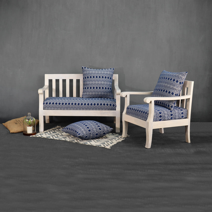 Moroccan Blue Two Seater Sofa