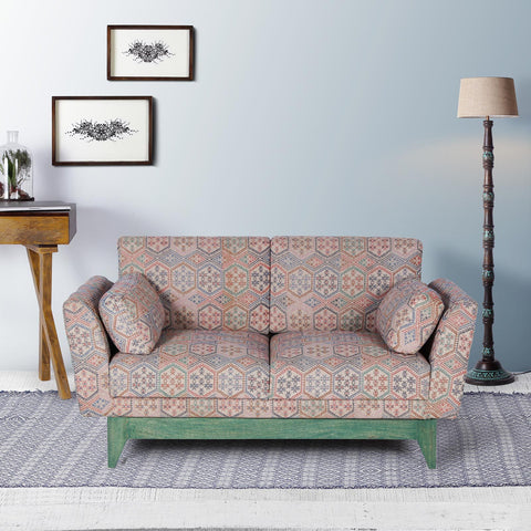 Victoria Solid Wood Two Seater Sofa