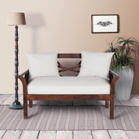 Alice Solid Wood Two Seater Sofa