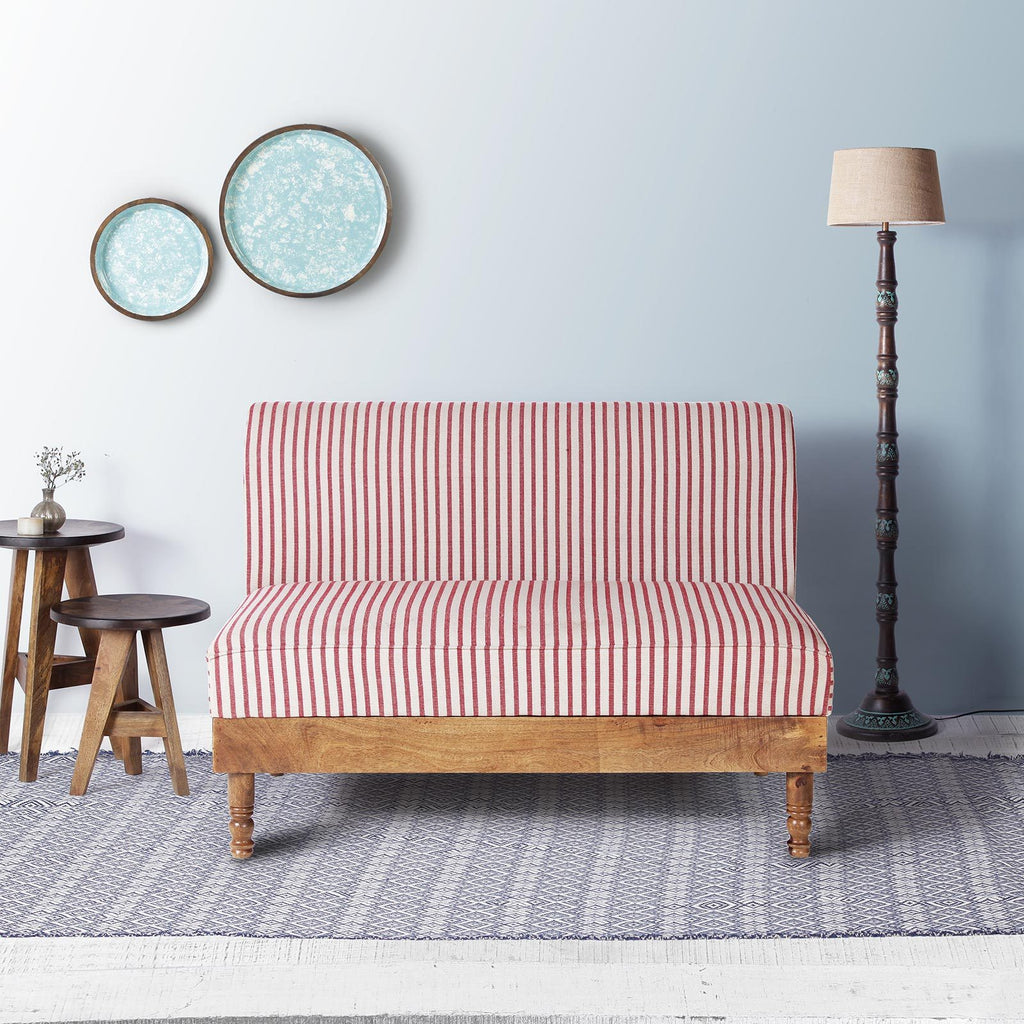 Felix Solid Wood Two Seater Sofa