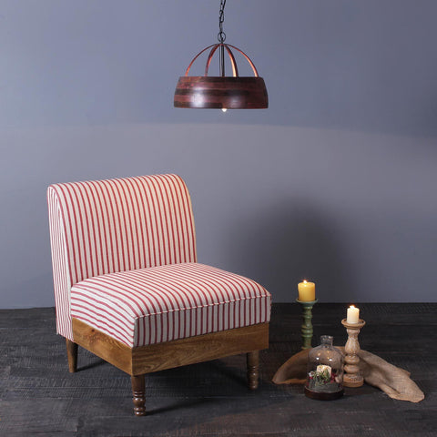 Felix Solid Wood One Seater Sofa