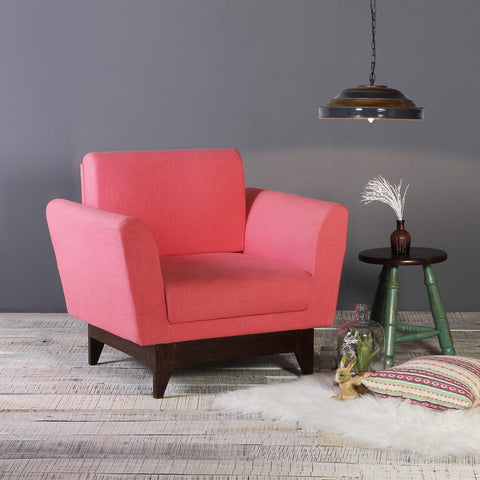 Lennard Solid Wood One Seater Sofa