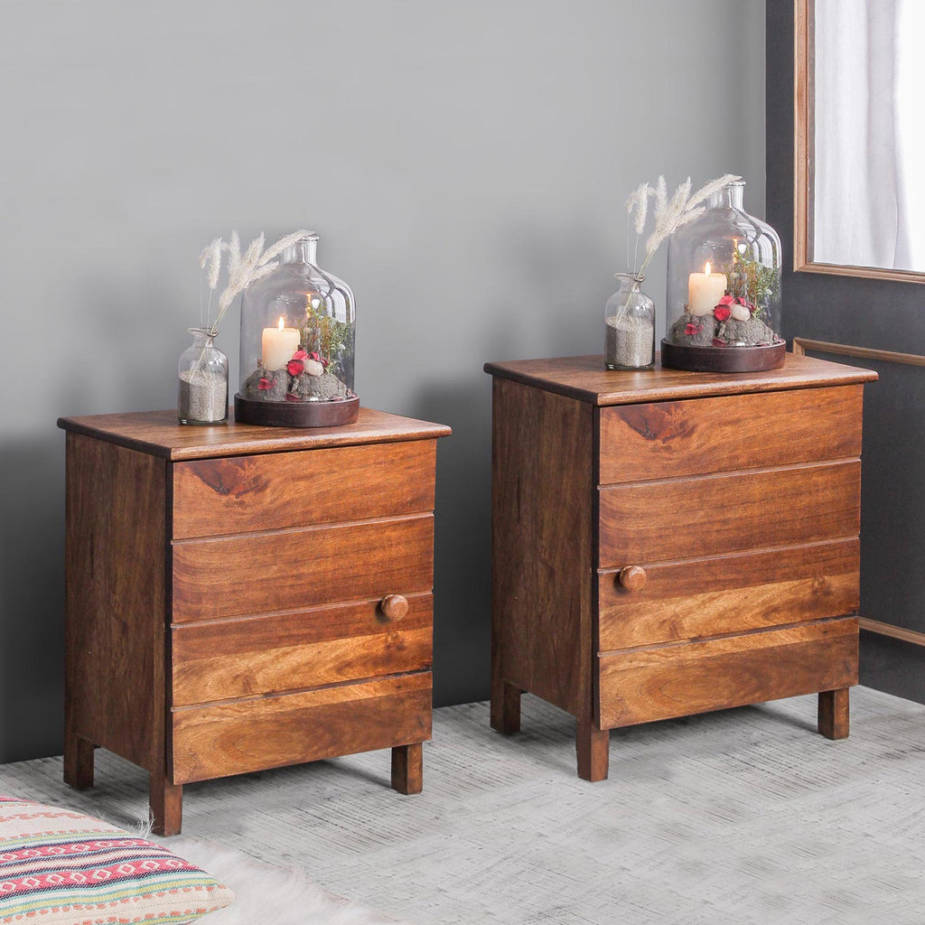Reina Solid Wood Bedside Table