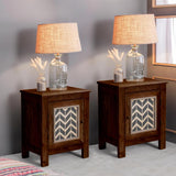 sheesham wood bedside tables