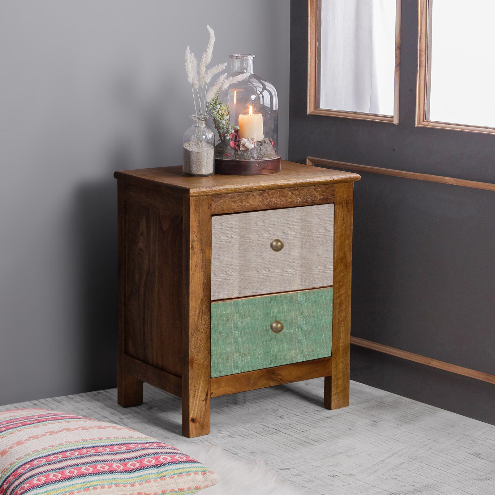Ellis Solid Wood Bedside Table