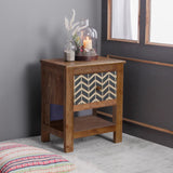 Margot Solid Wood Bedside Table with Single Drawer