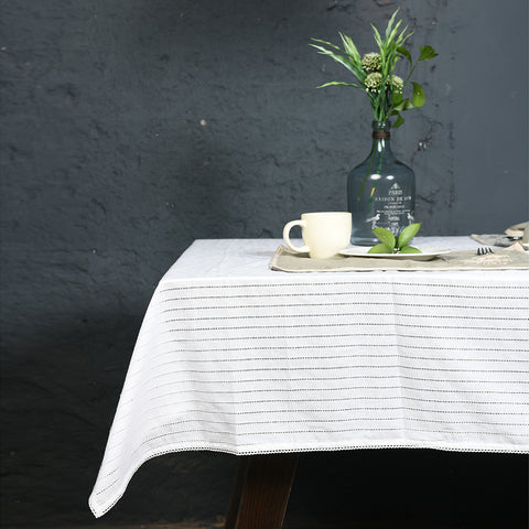 Snowhite Textured Table Cover