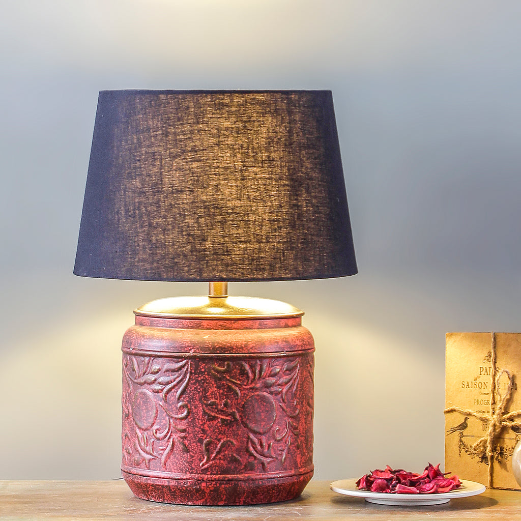 4b4f71266 Creote Vintage Red Table Lamp online - Lamps online - Fabuliv
