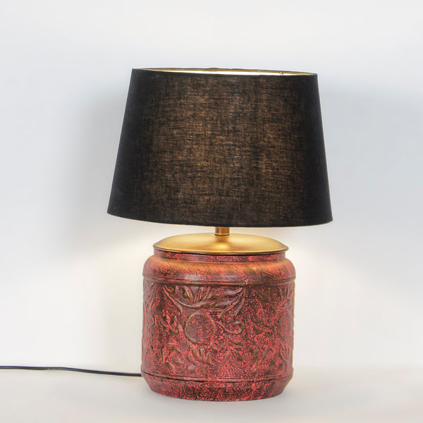 Creote Vintage Red Table Lamp