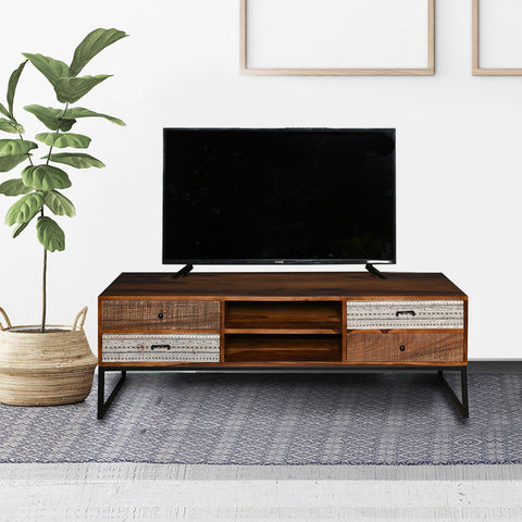 Astrid Solid Wood TV Unit
