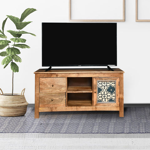 Rhodes Solid Wood TV Unit