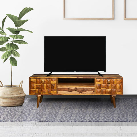 Bayern Solid Wood TV Unit