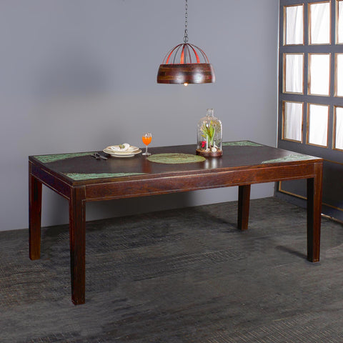 Raidon Solid Wood Six Seater Dining Table