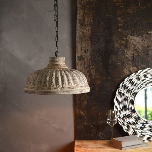 FABULIV Teracotta Copper Antique Pendant Lamp 1