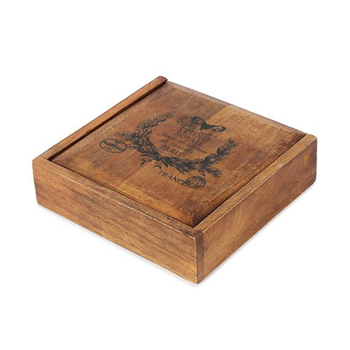 French wooden box with 4 compartments2
