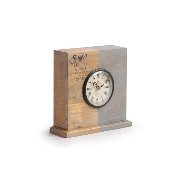 Vintage Wood Table Clock 2