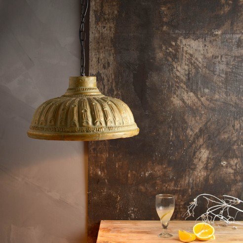 Teracotta Golden Antique Pendant Lamp 1