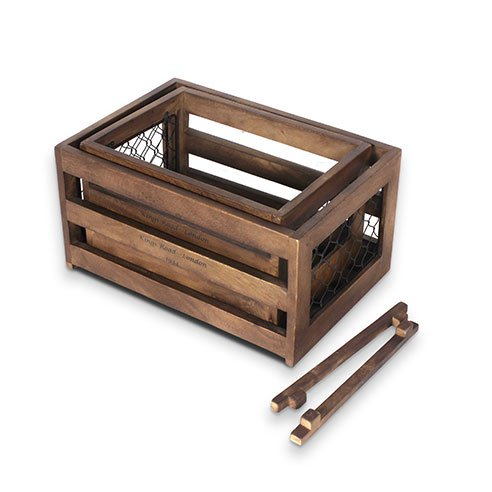 Roso white set of 2 wooden crates7