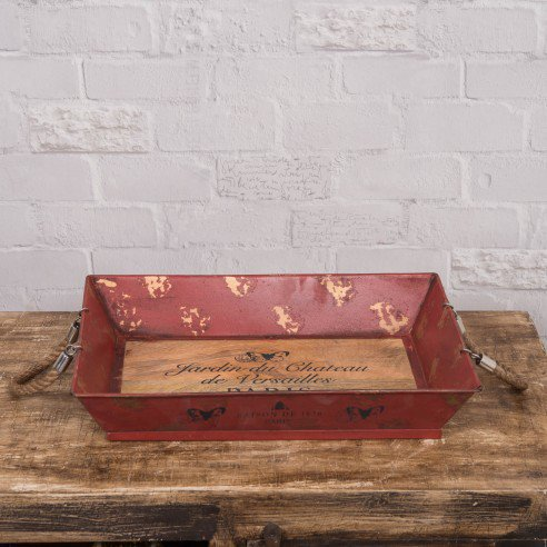 Jardin Decorative Tray Vintage Red online