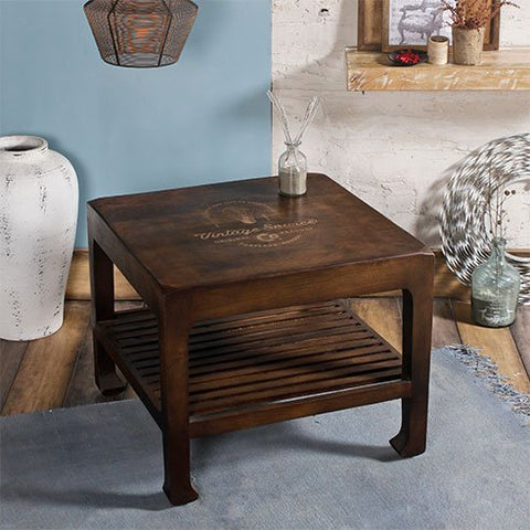 Buy Ashley Walnut Square Coffee Table online