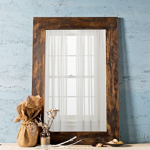 Weathered Grey Bath Mirror