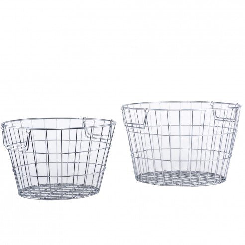 1FABULIV Utility wire Basket Round Set Of 2