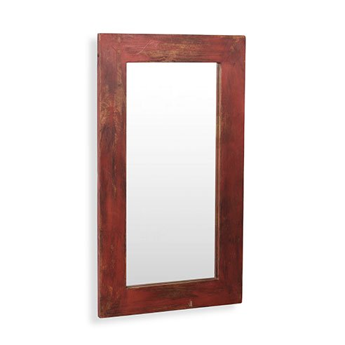 "Savannah Vintage Red Mirror L:20"" X H:32"""