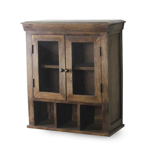Solid Wood Double Door Bathroom Cabinet 4
