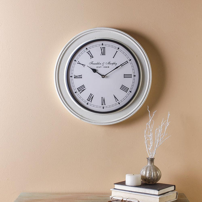 Everdene White 15 Wall Clock