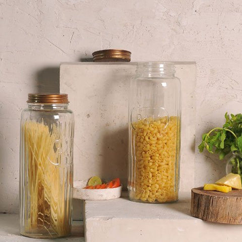 Horen's Glass Jars Set of 2