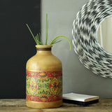Buy Floral Hand painted Teracotta Vase online