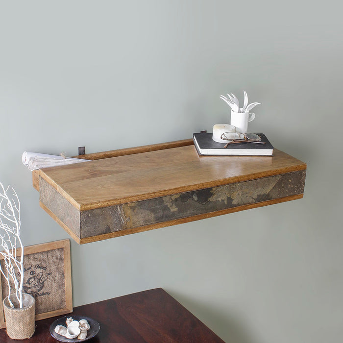 Ambre Wall Shelf with Secret Drawer