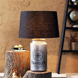 Alana Antique Silver Table Lamp