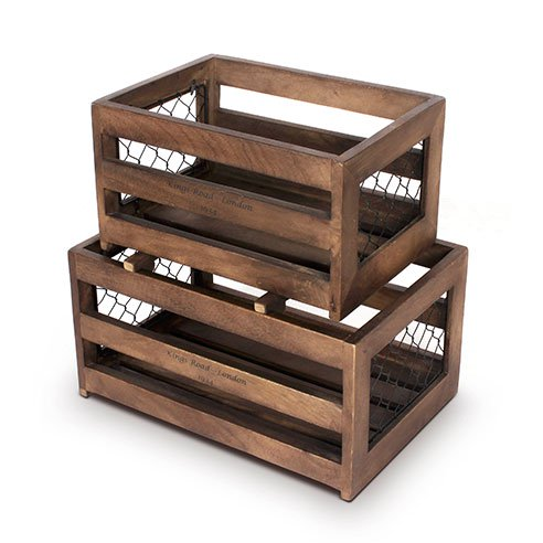 Roso white set of 2 wooden crates5