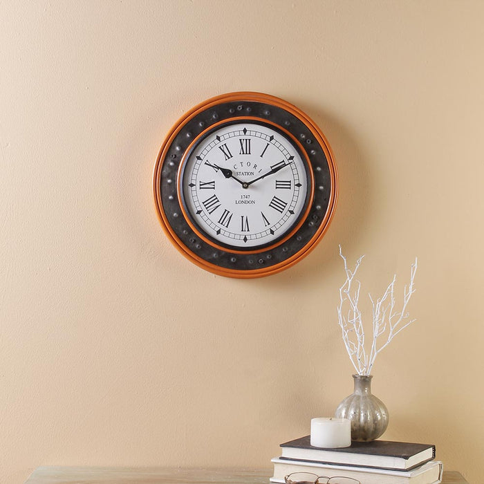 Everdene Orange 11 Wall Clock