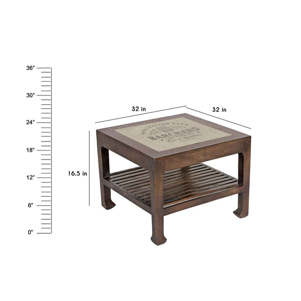 "Asley Barrel Coffee Table 32"" X 32"""