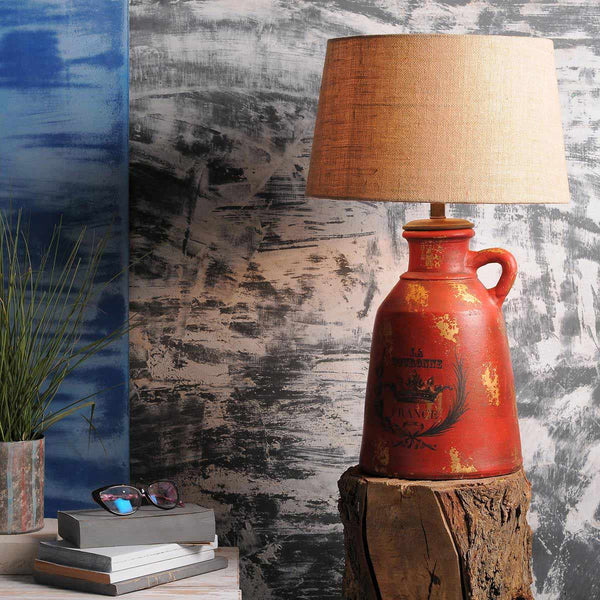 Anso Red Table Lamp