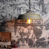 Antique Green Ecomix-wire Pendant Lamp