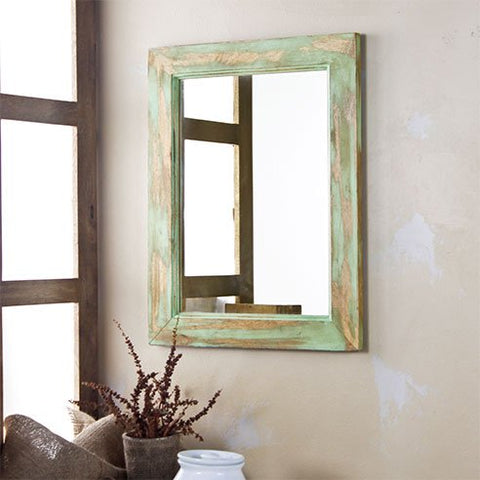 Cambrian Distress Green mirror 1