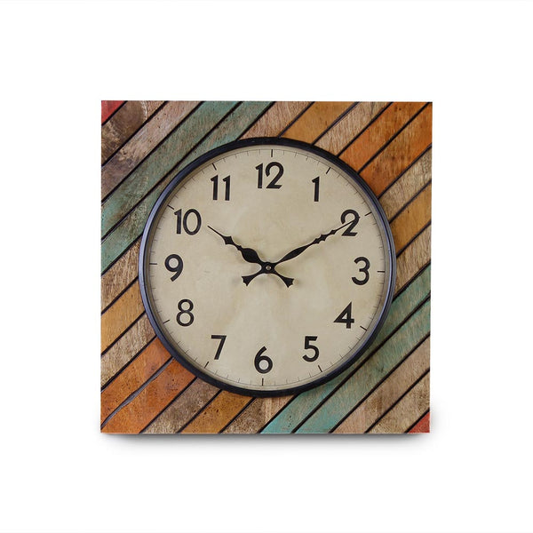 Elmira Wood 15 Square Wall Clock a